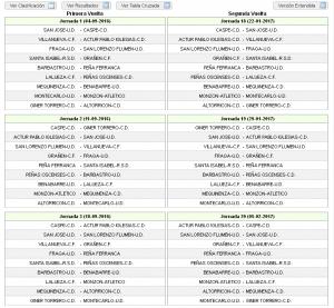 Calendario 2016/2017 Regional Preferente Aragón (Grupo I)