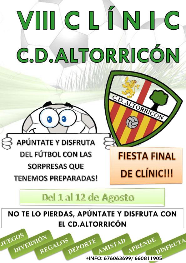 VIII Clínic CD Altorricón – ¡Apúntate ya!