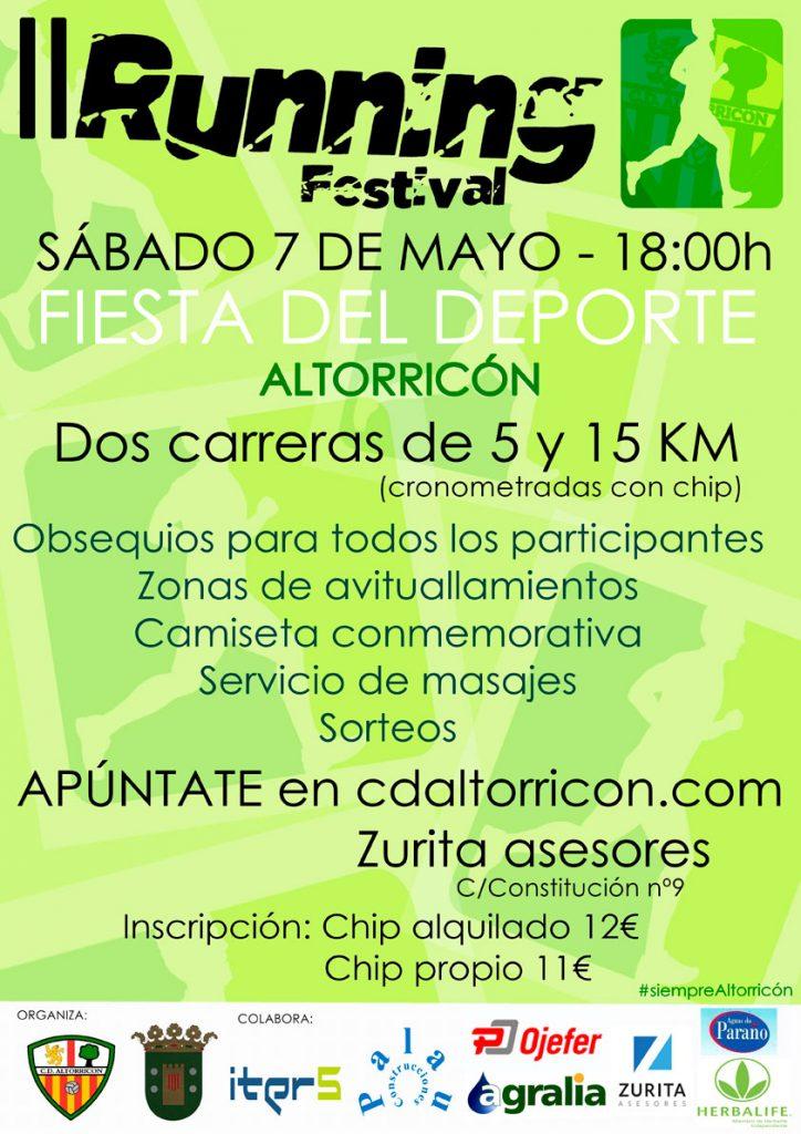 El II Running Festival Altorricón va tomando forma